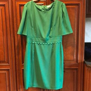 Worn Once Kelly Green Cocktail Dress with Sleeves